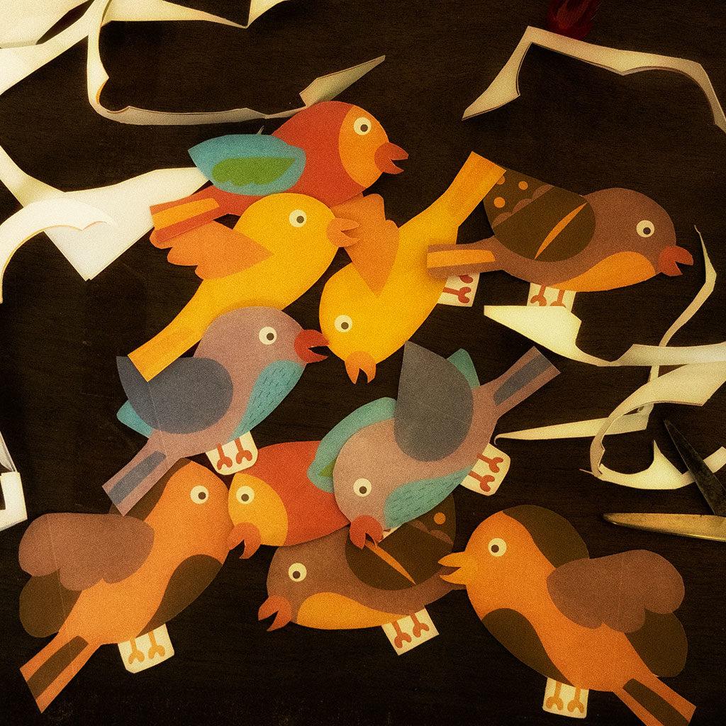 Vögel ausschneiden