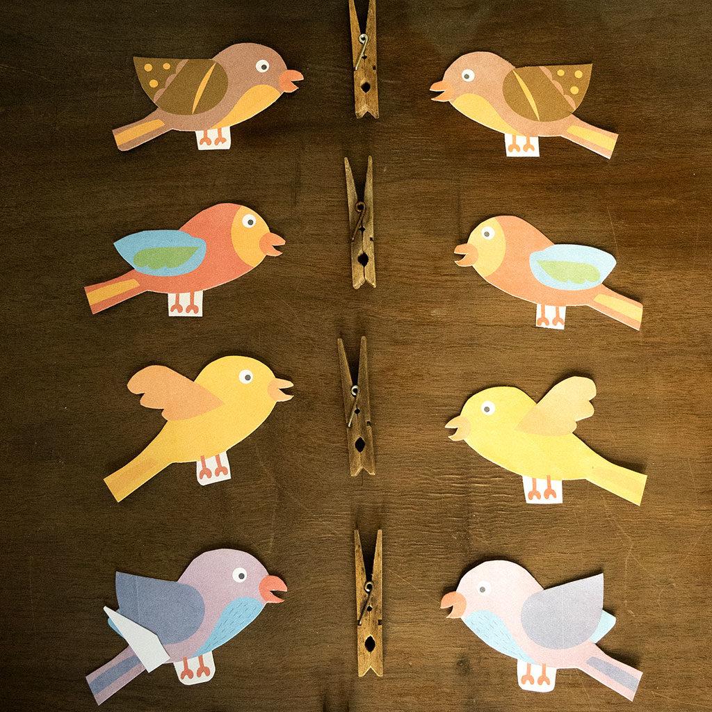 Vögel basteln
