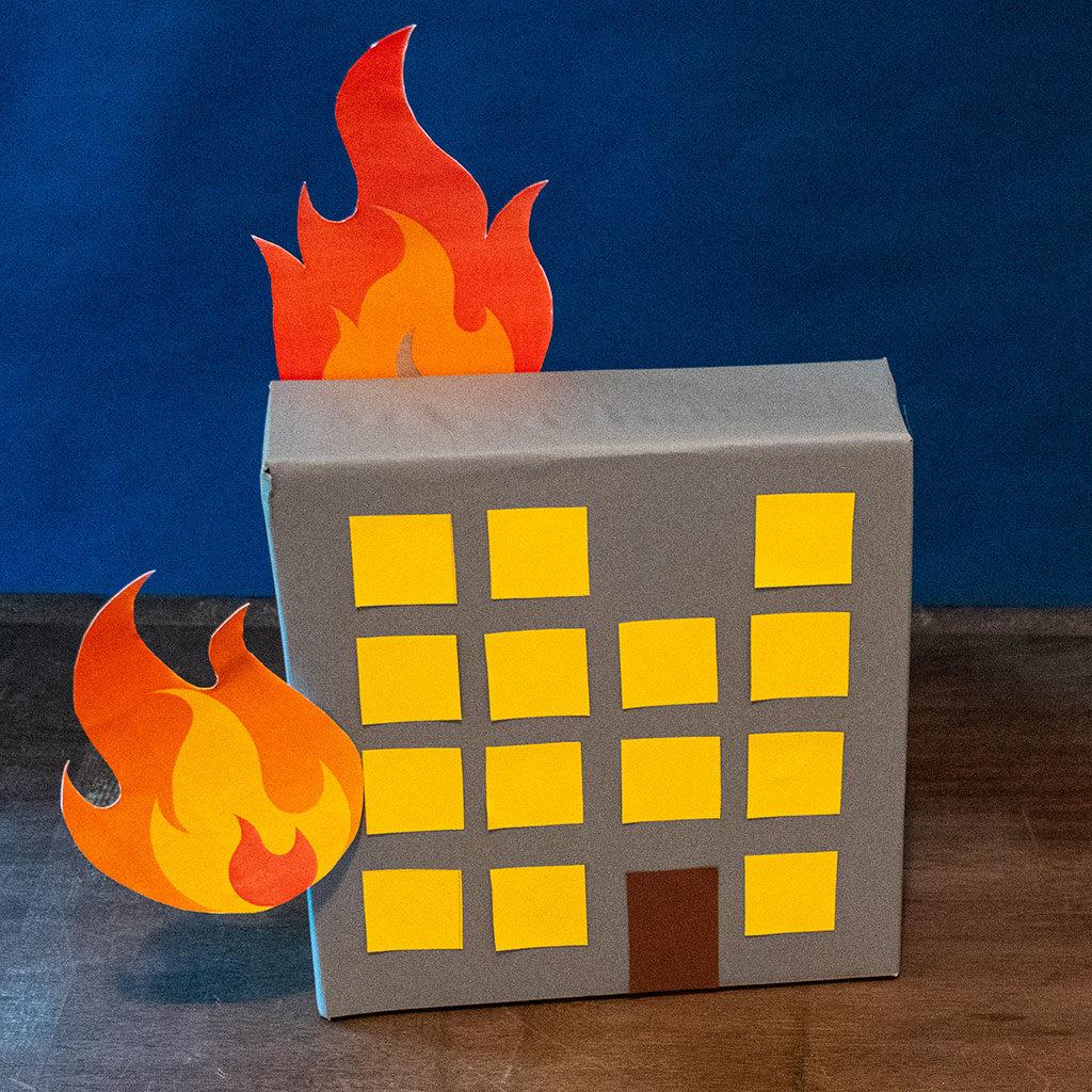 Feuerwehr-Partydeko: Jetzt noch die Flammen