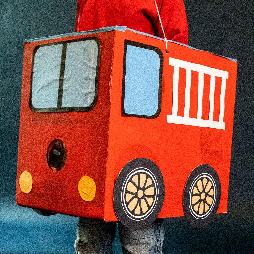 Feuerwehr-Auto basteln: Fertig