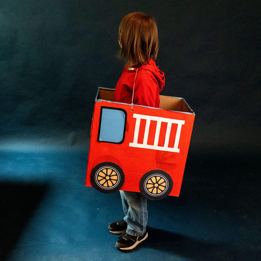 Feuerwehr-Auto basteln: Beispiel für Variante 1