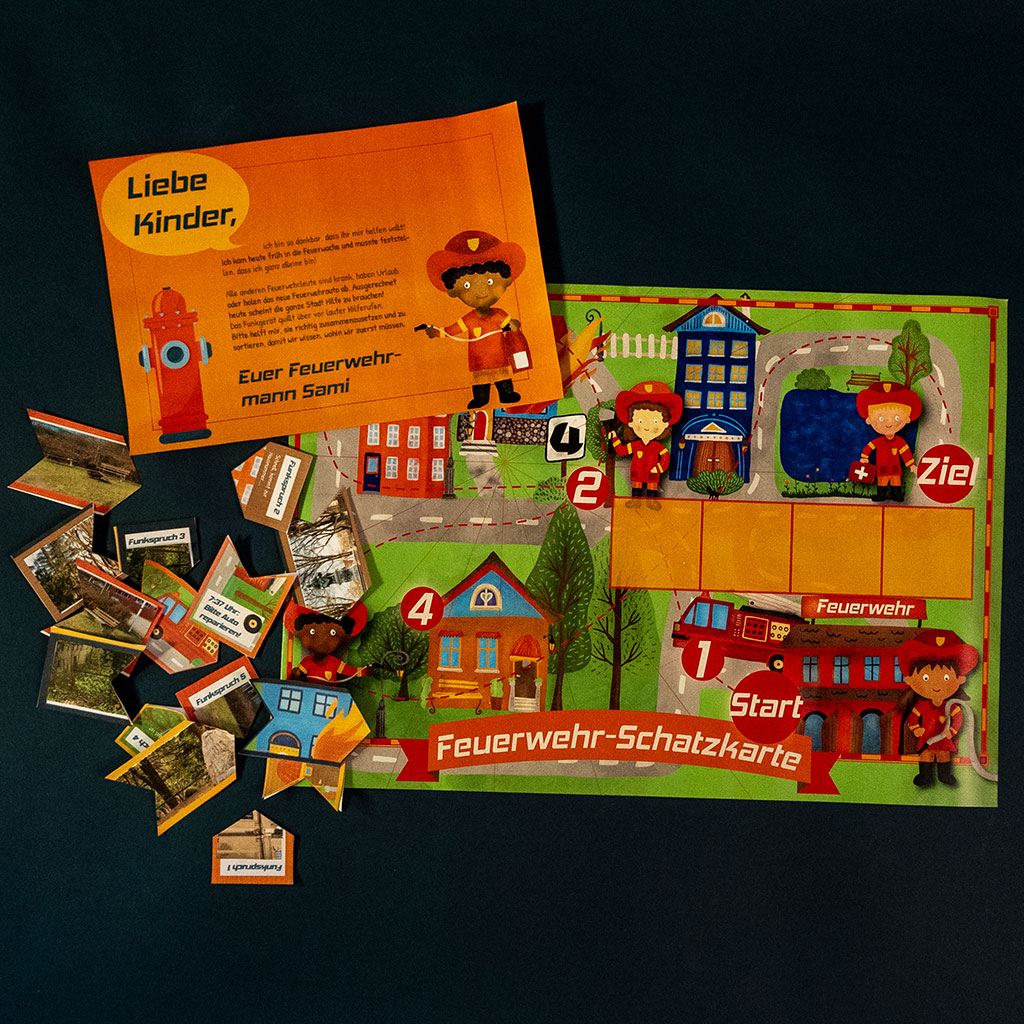 Feuerwehr-Schatzsuche: Briefe