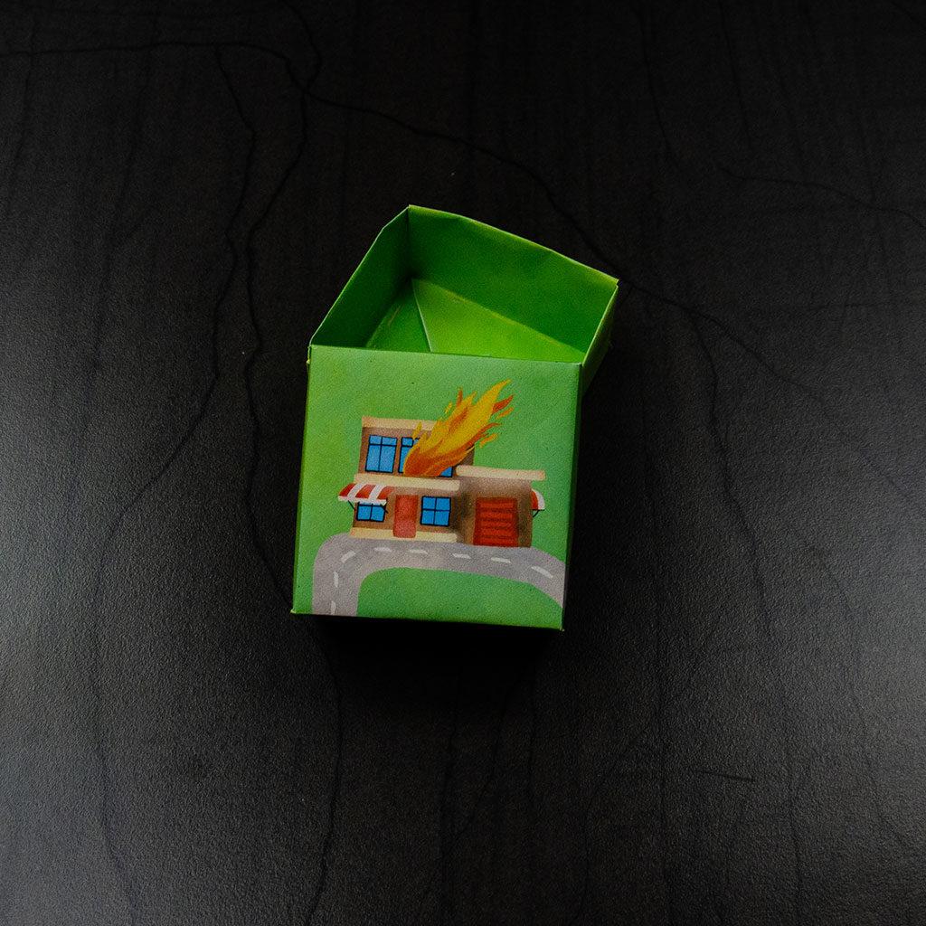 Feuerwehr-Schachtel basteln