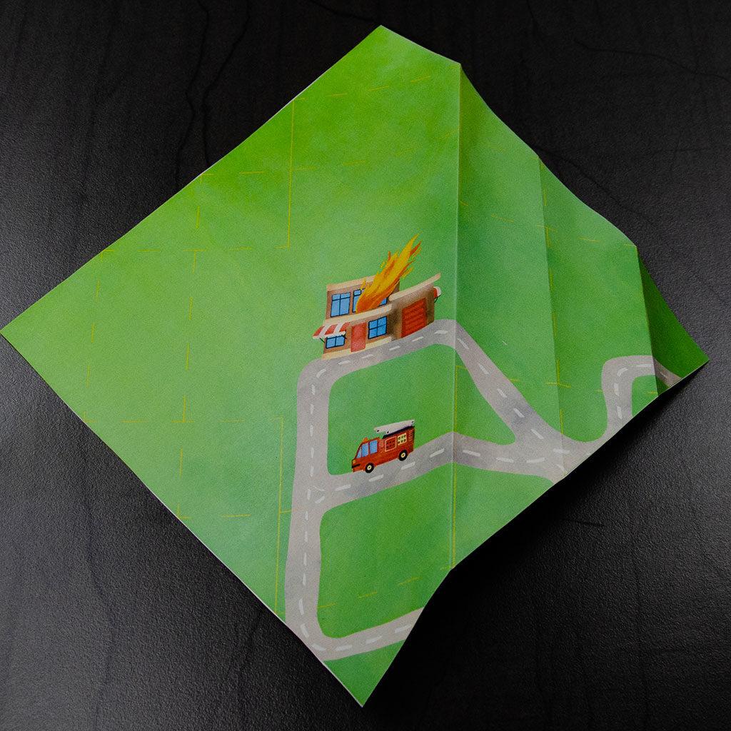 Feuerwehr-Schachtel basteln: Falten