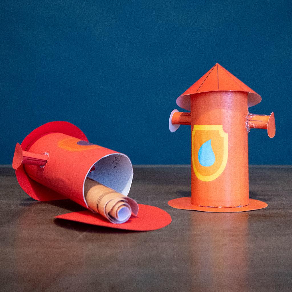 Hydrant-basteln: Öffnung lassen